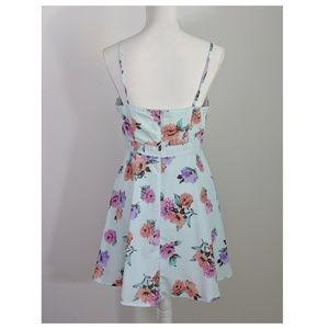 Mimi Chica Dresses - Mimi Chica Blue Floral Dress